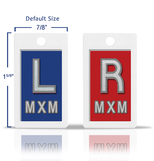 Plastic X Ray Marker, Classic Blue & Red