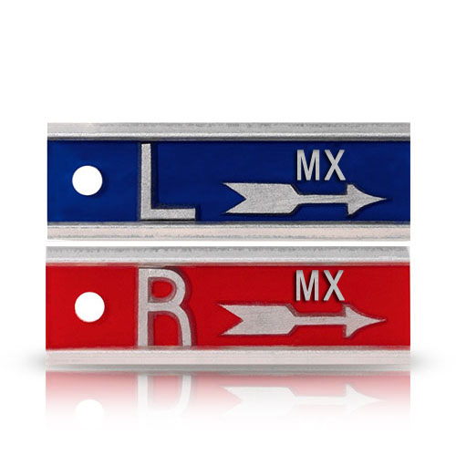 """ALUMINUM X-RAY MARKERS WITH 1"""" ARROW AND INITIALS"""