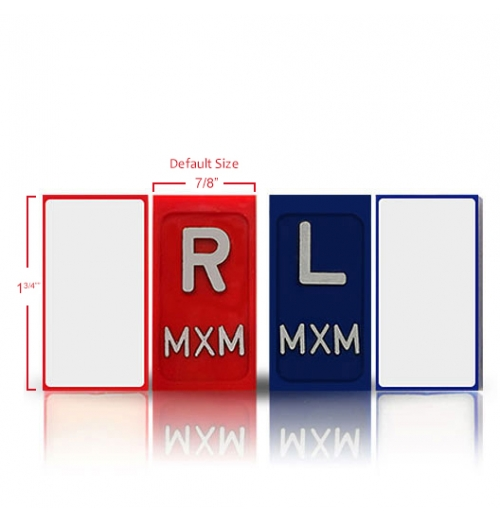 One Sided Self Adhesive XRay Markers With Initials