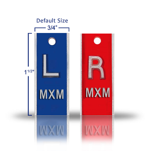 Elite Style Lead X Ray Markers, Classic Blue & Red