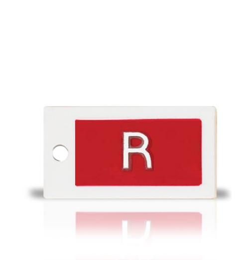 Plastic Identifier Word Marker, single letter or number.