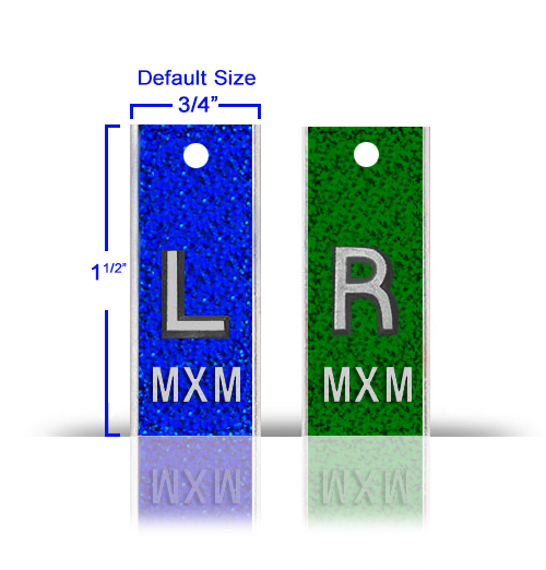 Aluminum Elite Style Lead X Ray Markers, Mix & Match Glitter Color