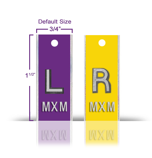 Aluminum Casing Lead X Ray Markers, Mix & Match Solid Color