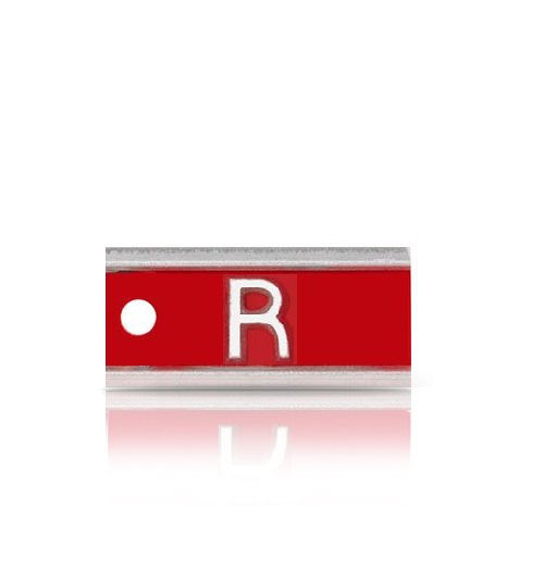 Aluminum Identifier Word Marker, single letter or number.