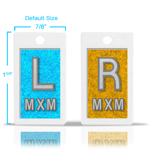 Plastic Lead X Ray Markers, Mix & Match Glitter Color