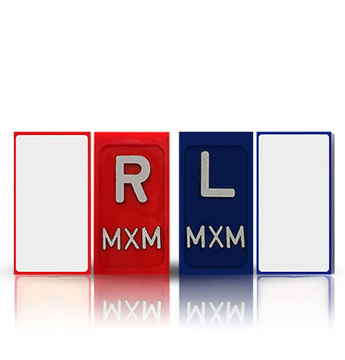 RADIOGRAPHY ONE SIDED SELF ADHESIVE XRAY MARKERS WITH INITIALS
