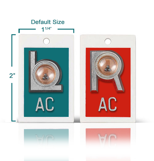 Position Identifier Markers Set W Initials, Mix & Match Solid Color