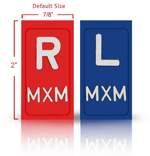 """2"""" Non Adhesive Plastic Lead X Ray Markers"""