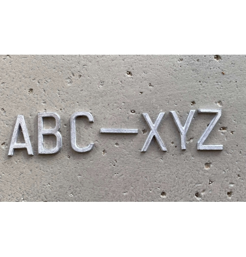 A-Z Set of Unmounted Lead Letters CONDENSED DEEP BLOCK