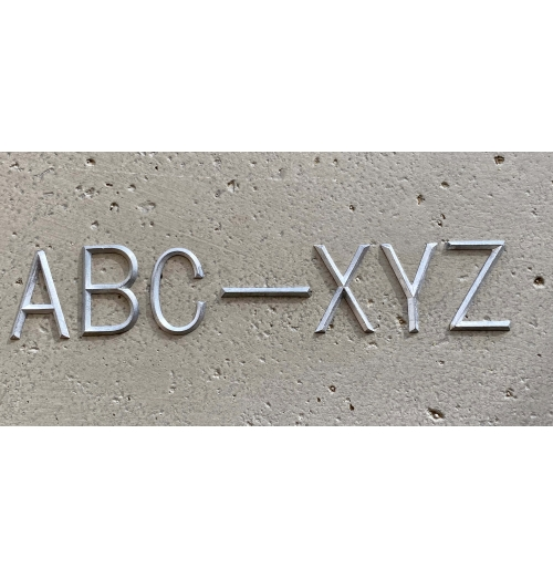 A-Z Set of Unmounted Lead Letters HAIR LINE