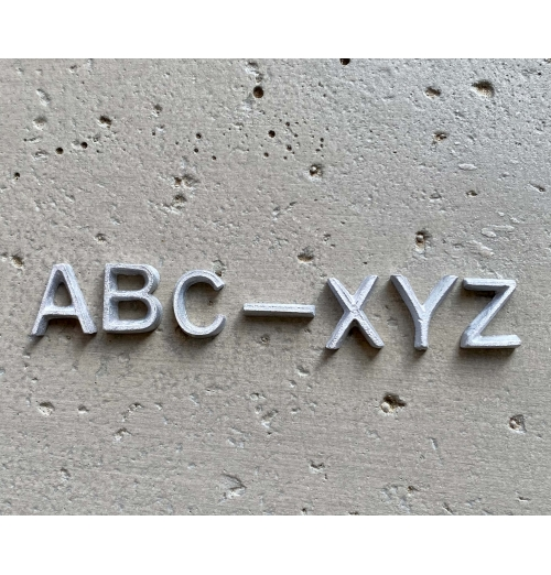 A-Z Set of Unmounted Lead Letters INDUSTRIAL STYLE