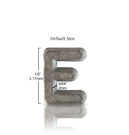 FLAT FACE Unmounted Lead Letter