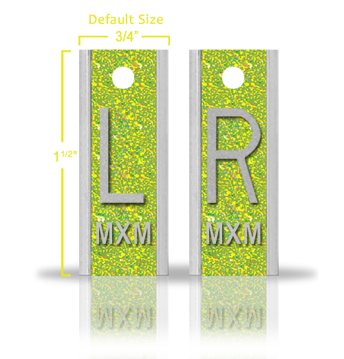 Elite Style Lead X Ray Markers, Emerald Green Glitter