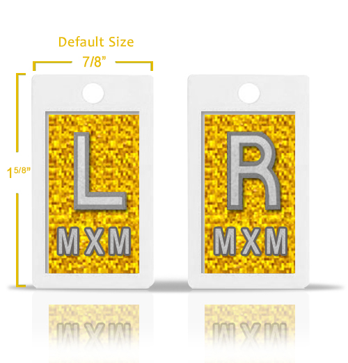 Yellow Sequins Glitter Lead X Ray Markers