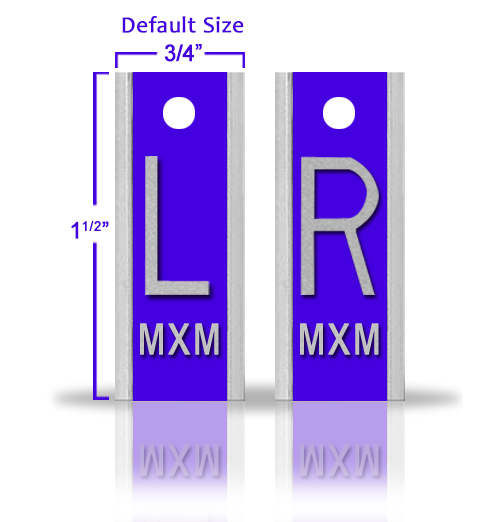 Elite Style Lead X Ray Markers, Azure Blue
