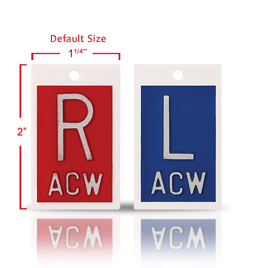 Plastic Markers With Initials, Classic Blue & Red