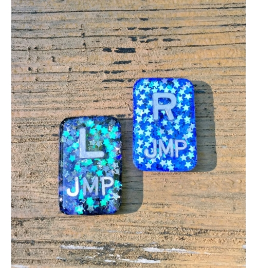 Night Sky X-ray Markers, Radiology Markers with Initials