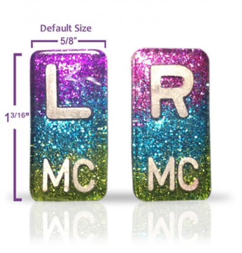 Small Rectangle X-Ray Markers - Ombre Glitters