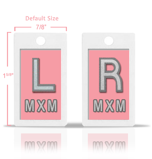 Soft Pink Custom X Ray Markers.