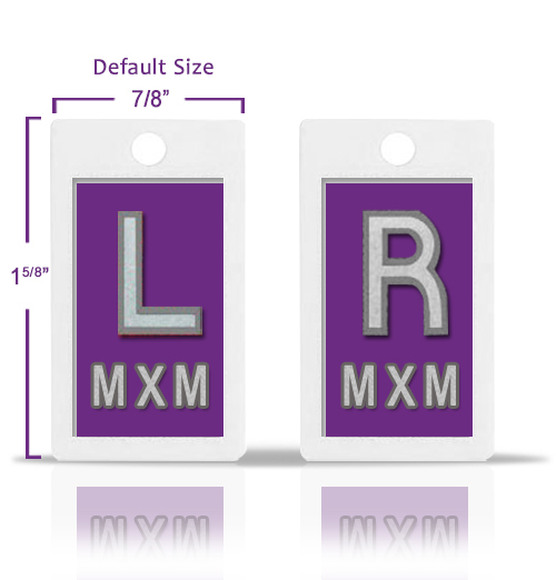 Light Violet Plastic Lead Markers