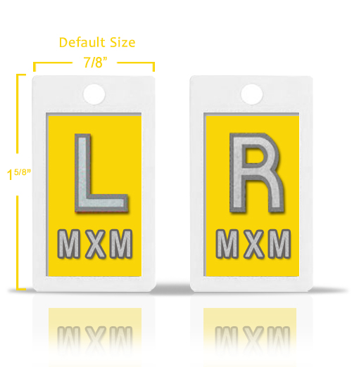 Yellow Lead X Ray Markers