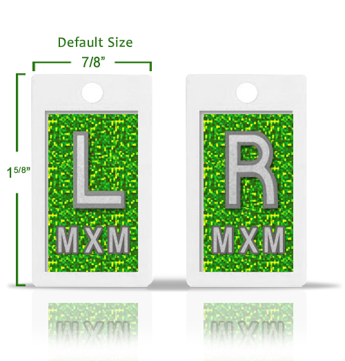 Emerald Green Glitter X Ray Markers