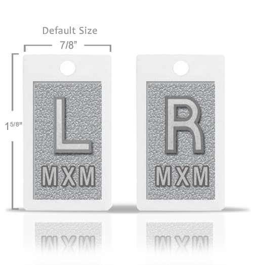 Silver Gray Metallic Lead X Ray Markers