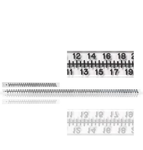 Rigid Acrylic Radiopaque Extremity Rulers
