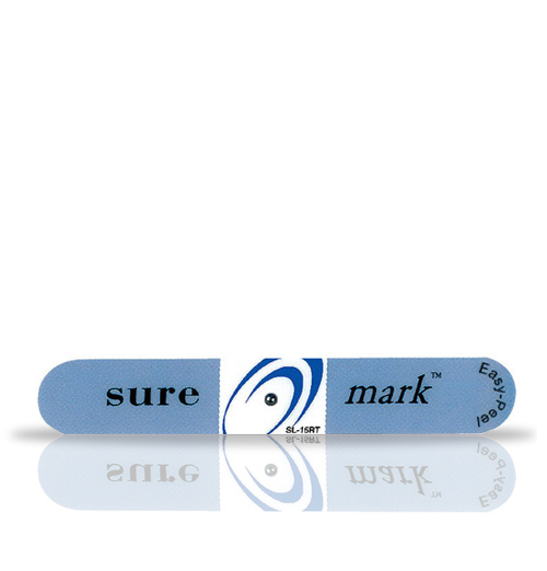 Suremark 1.5mm lead ball on relief tabbed label