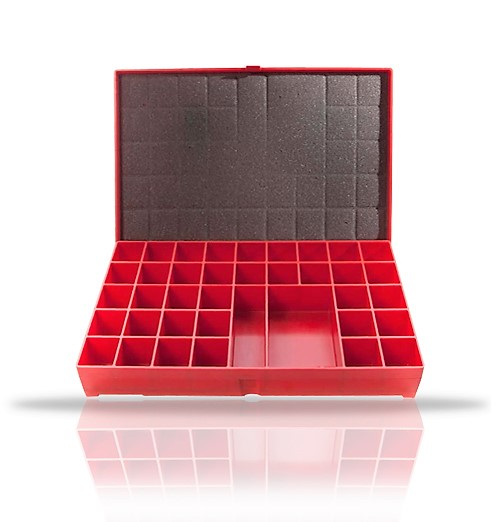 36 Compartment Lead Number Case,Red