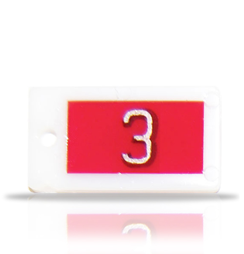 Plastic Identifier Word Marker, single letter or number.