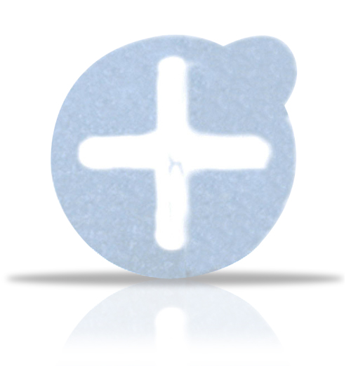 Metal Free Semi Lucent Crosshair label