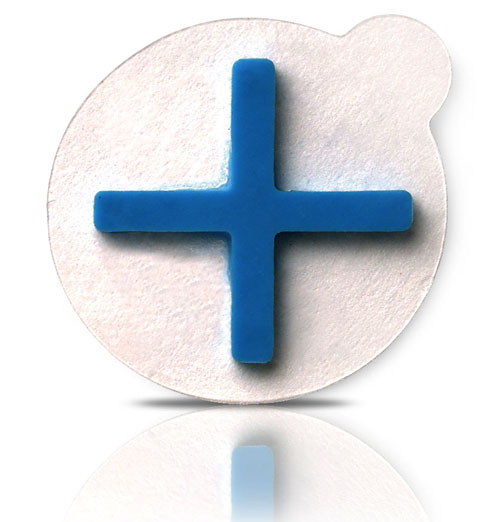 1.2cm CT Cross on Round Label