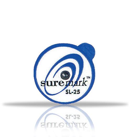 Suremark 2.5mm lead ball on 15mm label