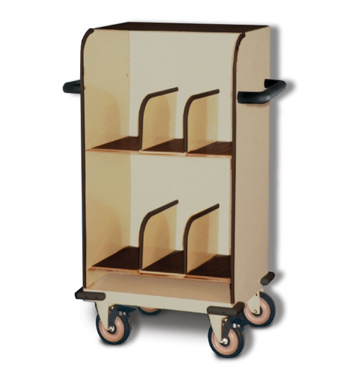 SlimLine Cart 2Tier Closed Top With Dividers