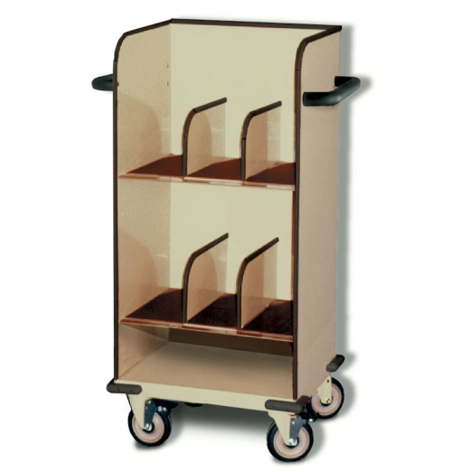SlimLine Cart 2Tier Open Top With Dividers