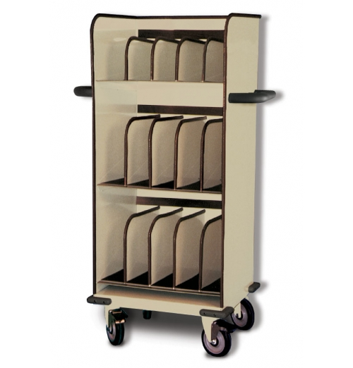 SlimLine Cart 3Tier Closed Top With Dividers