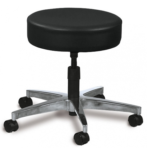 Classic Stool With Locking Casters And Backrest