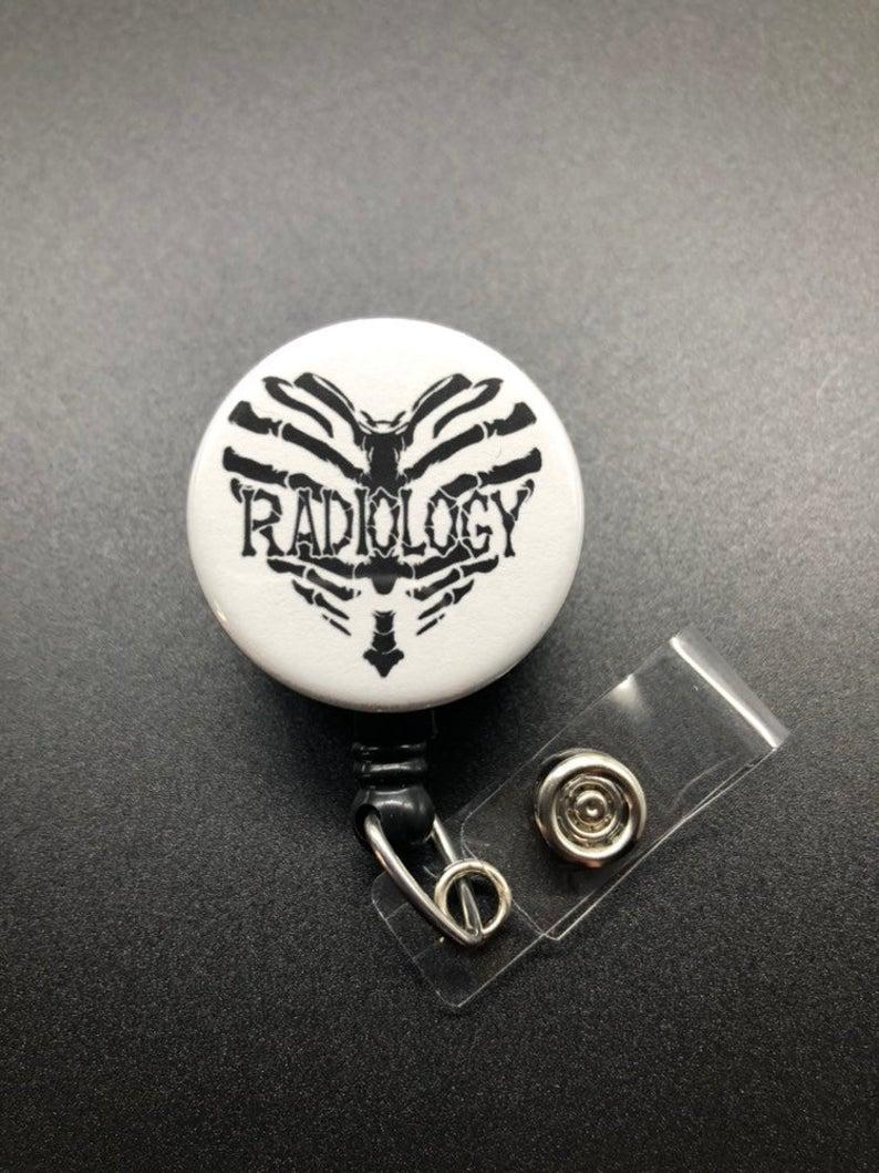 Green Camo Badge Reel Retractable Handmade ID Holder