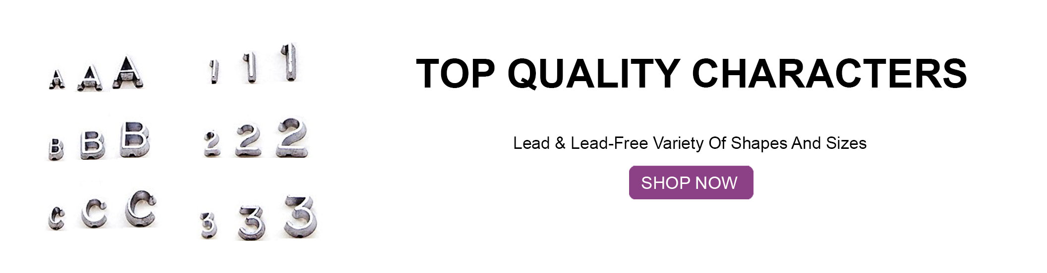 Lead and Lead Free Letters